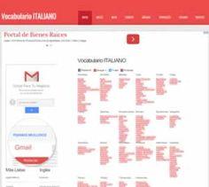 Recursos para aprender italiano. Listado de sitios web sobre el Léxico italianos.