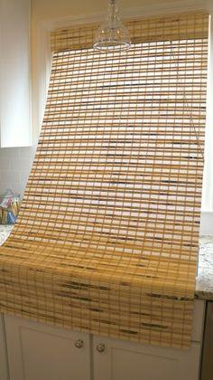 first house living diy tutorial shortening bamboo roman shades - Bamboo Roman Shades