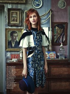Lera Tribel | Bazaar UK Novembre Harper 2014 (Photographie: Tom Allen)
