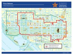 Here is a map showing the vehicle restrictions that will be in place for the Presidential Inauguration on January 21. For more information visit inauguration.dc.gov