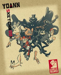 """""""Sketchbook Yoann #1"""" (cover), to be published soon by Comix Buro in january 2015."""