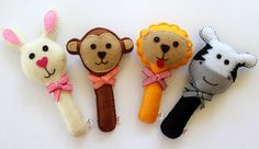 Soft Rattles - part of the Heartfelt Ruby Melon Collection. How cute are these Bushbabies?