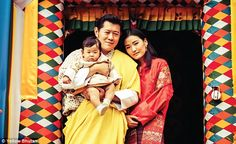 8/11/16*Family trip: The King and Queen of Bhutan took their young son out to theBumthang this week