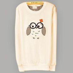 Lovely Cartoon Owl Long Sleeve Womens Casual Sweatshirt Sweats Outwear Tops 7016   eBay