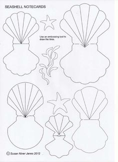 Fold-over seashells – fun as cards or gift tags. These seashell notecards are… Fold-over seashells – fun as cards or gift tags. These seashell notecards are fun and easy to make. You can use them as bon voyage card… Mermaid Party Invitations, Diy Invitations, Mermaid Birthday Invites, Mermaid Crafts, Mermaid Diy, Little Mermaid Parties, The Little Mermaid, Bon Voyage Cards, Mermaid Party Decorations