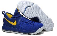 Nike Zoom KD 9 Mens Basketball Shoes Sapphire blue yellow0