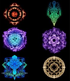 fantasy gnome symbol at DuckDuckGo Anime Weapons, Fantasy Weapons, Magic Circle Crochet, Spell Circle, Magic Symbols, Tatoo Art, Weapon Concept Art, Magic Spells, Magic Art