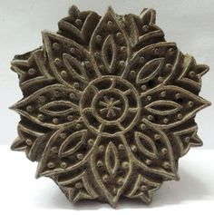 Indian Wooden Hand Carved Textile Printing on Fabric Block Stamp Carving Design | eBay