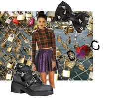 """""""Locking down our love on the Pont des Arts"""" by yourbabyd0ll on Polyvore #MissKL #SpringtimeinParis"""