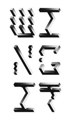 black & white blocks with gradient