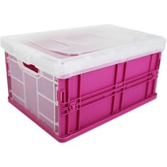 Pink Foldable Storage Box | Storage Boxes at The Works  sc 1 st  Pinterest & Pink PVC Storage Bag | Storage Boxes at The Works | Craft Work Items ...