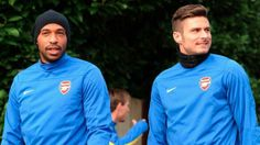 Henry & Giroud Head For Training Before Match vs Marseille 2013-2014.