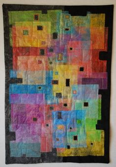Regina Marzlin art quilt   I love the transparency in this quilt.  I think it might be made from dye painted Lutradur