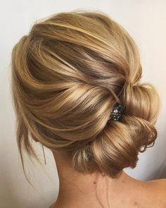 Unique updo with braid wedding hair inspiration | fabmood.com #weddinghair #hairstyleideas #hairstyles #weddingupdo #upstyle #chignon #bridalhair #braidhairsyle #braids #braidupdo #hairstyleideas