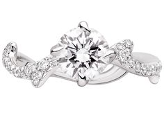 Dior Joaillerie Bois de Rose, white gold and round cut diamond ring (1 carat), €29,000