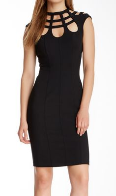 Gloire Fitted Cutout Dress