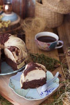 Chocoflan: bizcocho brownie + flan