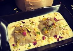 Kalakand Momo drizzled with Rabdi Recipe by Bethica Das - Cookpad India Holi Sweets, Rabdi Recipe, Holi Recipes, Clarified Butter, Serving Plates, Pistachio, Great Recipes, Special Occasion, India
