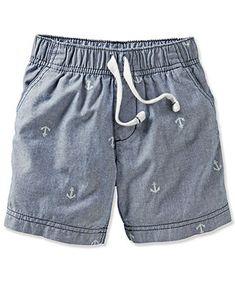 Carter's Baby Boys' Chambray Shorts - Kids - #bigbabybasketsweeps