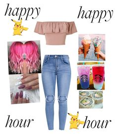 """Pokemon go/happy hour"" by number1savage ❤ liked on Polyvore featuring Miss Selfridge and York Wallcoverings"