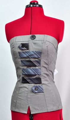 Handmade Top Jeviev upcycled fashion by jeviev on Etsy, Diy Clothing, Sewing Clothes, Salopette Jeans, Altered Couture, Recycled Fashion, Pulls, Diy Fashion, Creations, My Style