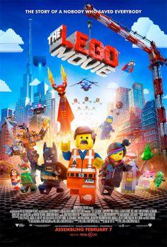 Esse é o poster do filme: Uma Aventura LEGO. É o primeiro filme feito só com os bonecos e tem como diretores a dupla: Phil Lord e Christopher Miller (Anjos da Lei).