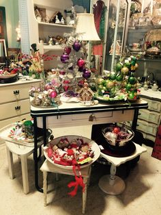 My Christmas booth 2015 at Sheffield Antiques'Mall