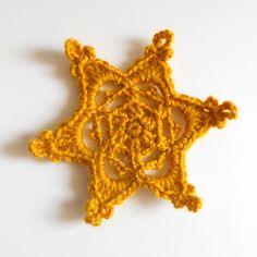 Pluie d'étoiles | in the loop - Le webzine des arts de la laineEtoile au crochet