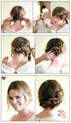 easy double braid updo tutorial - Popular Hair & Beauty Pins on Pinterest