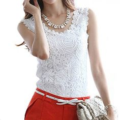 Fedi Apparel Women Girl Lace Summer Beach Top Evening Party Vest Casual Blouse