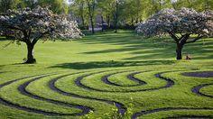 Clitheroe Castle Labyrinth, Clitheroe, Lancashire, England.