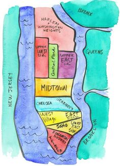 Cute Map! Actual helpful haha #map #nyc