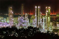 工場夜景×HDR
