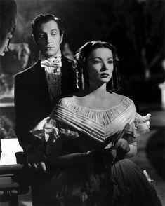 With Gene Tierney in DRAGONWYCK (1946).