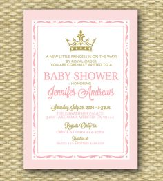 free baby shower invitations for girls 2
