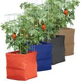 A pot or bag can be an indoor Kitchen garden❗️Tomato, potato & pepper grow bags! The smaller the pot, the more often you water. Growing Tomatoes Indoors, Growing Herbs, Growing Vegetables, Grow Tomatoes, Container Plants, Container Gardening, Vegetable Gardening, Grow Bags, Outdoor Plants