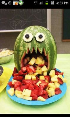 Scary melon! #Halloween #partyideas