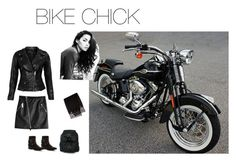 """Back To Black"" by karenannie on Polyvore featuring Harley-Davidson, Dsquared2, VIPARO, NOVICA, Penny Loves Kenny and Valentino"