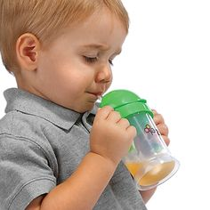 Zo-li Bot Straw Sippy Cup!  Your little ones will love this smart sippy cup!