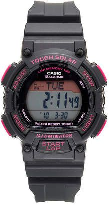 b68b120ed74 Casio® Solar Runner Womens Black and Pink Strap Watch - JCPenney