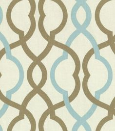 To cover my dining room chairs!!!  YES!!  Waverly Home Decor Print Fabric Make Waves Latte at Joann.com