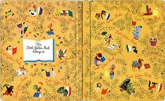 """Little Golden Books"" endpapers (1950) by pietschreuders, via Flickr"
