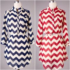 BLUE or RED? Which Belted Chevron Tunic will you choose?? The perfect tunic for all of our CAT & CARD fans!!   http://www.brandisboutiqueshop.co/item_2237/Belted-Chevron-Tunic.htm.