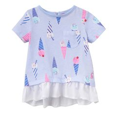 T-Shirt LULABELLE Ice-Cream in hellblau/bunt