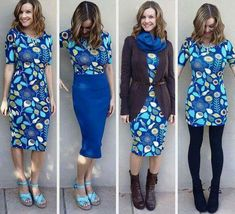 Different ways to wear LuLaRoe Julia dress #lularoe hacks