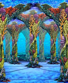 Under the Sea mirror maze - one of Adrian Fishers who has done 50% of all mirror mazes in the world.