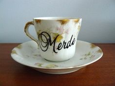 merde small espresso cup: made by trixiedelicious
