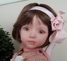 porcelain, painted eyes, made from Dianna Effner mold by LCD dolls Laura Corti Dadatti
