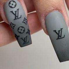 Ah-mazing LV nail set tutorial 💅😍💎 by @kleidys_nails Cute Summer Nail Designs, Cute Summer Nails, Pastel Nail Art, Manicure Y Pedicure, Nail Art Videos, Best Acrylic Nails, Nail Set, Press On Nails, Nail Tutorials