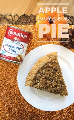 Carnation Evaporated Milk has perfected the Classic Pumpkin Pie but this Thanksgiving we've thrown in a twist – we've made a creamy 'n dreamy Apple Pumpkin Pie! Apple Recipes, Pumpkin Recipes, Fall Recipes, Sweet Recipes, Yummy Snacks, Yummy Food, Food Website, Recipe Details, Dessert For Dinner